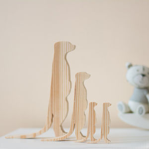Meerkat Family Wooden Ornaments