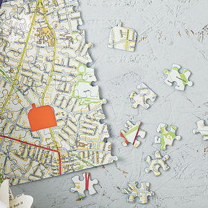 Personalised Our House Map Jigsaw - gifts for couples