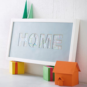 'Home' Cut Out Art Print - personalised gifts for families