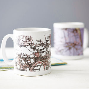 Personalised Map Mug - gifts under £25 for him
