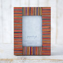 Dhari Fair Trade Striped Photo Frame