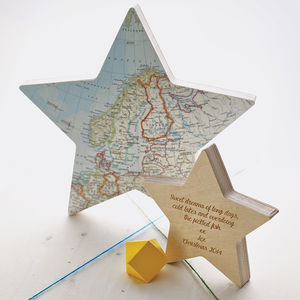Personalised Freestanding Map Star - fireplace accessories