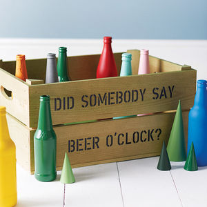 Personalised Beer Storage Crate - storage & organisers