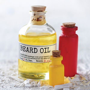 Beard Oil And Face Rag Set - gifts under £25