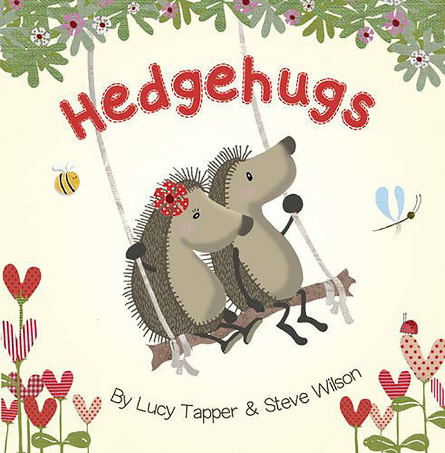 Where Is The Illustration On The Front Cover Of A Book ~ Hedgehugs children s story book by fromlucy notonthehighstreet