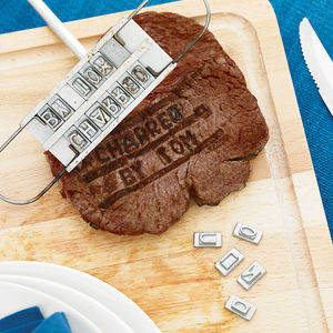 Personalised Steak Branding Iron - barbecue accessories