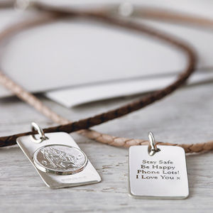 St Christopher Necklace - personalised gifts for dads