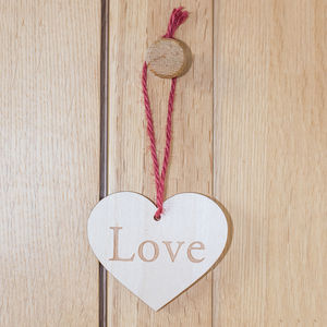 Personalised Wooden Heart On A String - home accessories