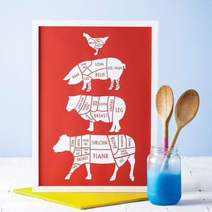 Butcher's Kitchen Print - for the home