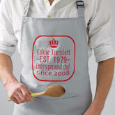Personalised King Of The Kitchen Apron - father's day