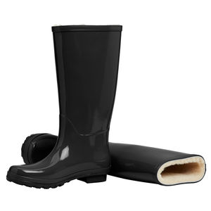 Merino Sheepskin Lined Wellingtons Blackberry