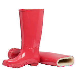 Merino Sheepskin Lined Wellingtons Scarlet - shoes