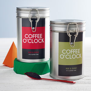 'Coffee O' Clock' Coffee Gift Tin - food & drink sale