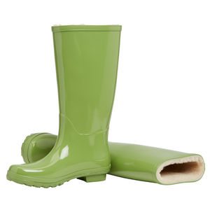Merino Sheepskin Lined Wellingtons Lime - shoes