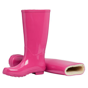Merino Sheepskin Lined Wellingtons Magenta - shoes