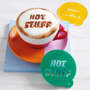 Personalised Message Coffee Stencil - gifts for foodies
