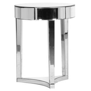 Mirrored Circular Side Table - side tables