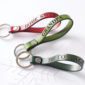 Personalised Leather Keyring - favourites