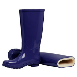Merino Sheepskin Lined Wellingtons Indigo