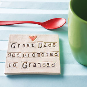 Grandparent Ceramic Coaster - personalised gifts for him