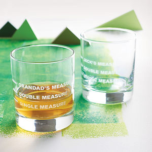 Personalised Drinks Measure Glass - for fathers