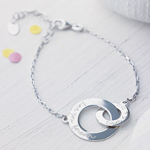 Personalised Intertwined Chain Bracelet - wedding fashion