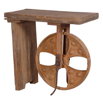 Big Wheel Side Table