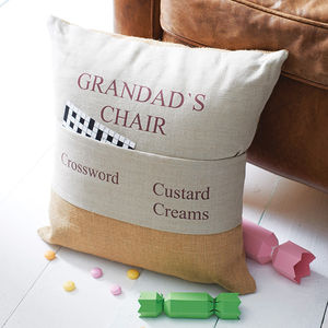 Personalised Pocket Cushion - last-minute christmas gifts for him
