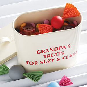 Personalised Enamel Storage Tin - gifts for grandparents
