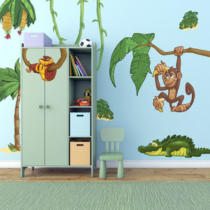 Large Jungle Animals Pack One Wall Stickers