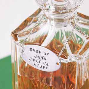 Personalised Decanter Tag Bottle Label - kitchen