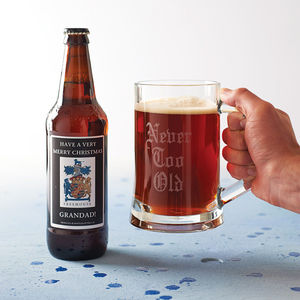 Personalised Real Ale And Engraved Tankard - for grandfathers
