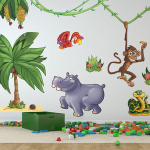 Large Jungle Animals Pack Two Wall Stickers - wall stickers
