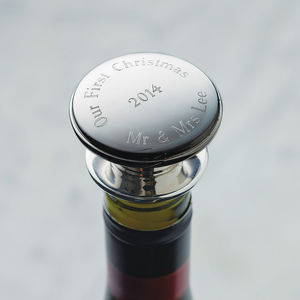 Personalised Wine Bottle Stopper - gifts for him