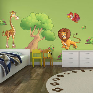 Large Jungle Animals Pack Three Wall Stickers - wall stickers