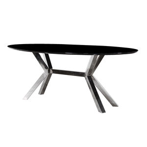 Oval Dining Table With Metal Legs