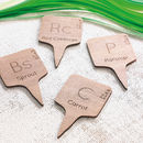Chemical Element Wooden Vegetable Markers