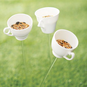 Teacup Bird Drinker Or Feeder - gifts for gardeners