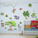 Small Jungle Animals Pack One Wall Stickers