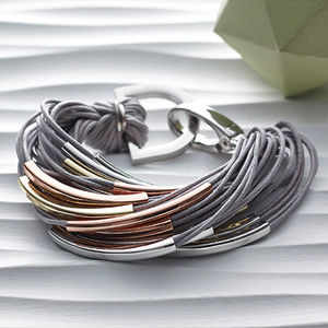 Katia Silver And Thread Bracelet - jewellery gifts