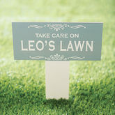 Personalised Enamel Garden Sign - garden