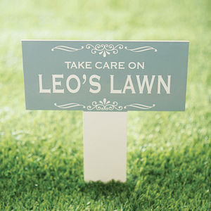 Personalised Enamel Garden Sign - gifts for him