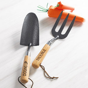 Personalised Garden Trowel And Fork Set - garden essentials