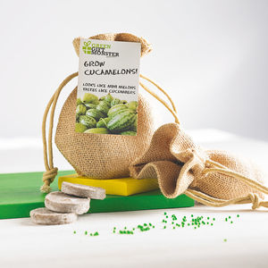 Grow Your Own Cucamelon Jute Bag Set - stocking fillers