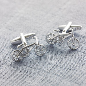 Bicycle Cufflinks - special work anniversary gifts
