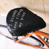 'I Bloody Love ' Bike Seat Rain Cover - christmas