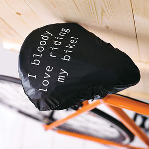 'I Bloody Love ' Bike Seat Rain Cover - shop the christmas catalogue