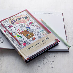 'Dear Grandma' Journal Of A Lifetime - stocking fillers