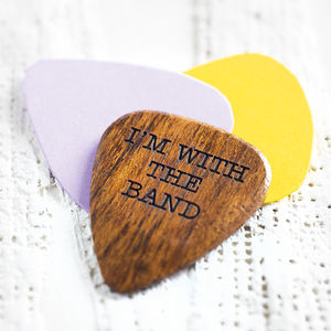 Personalised Wooden Plectrum - for young men