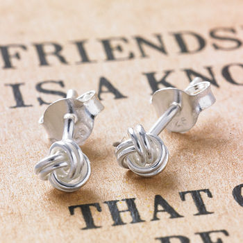 Friendship Knot Silver Earrings